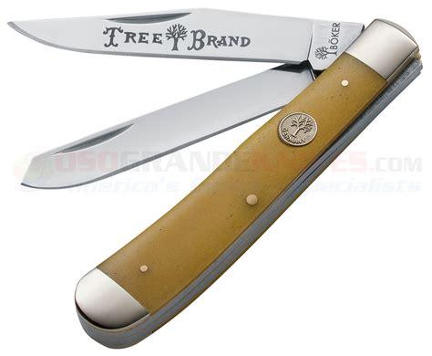bone handle knives boker 110731 trapper pocket knife smooth yellow bone handle osograndeknives