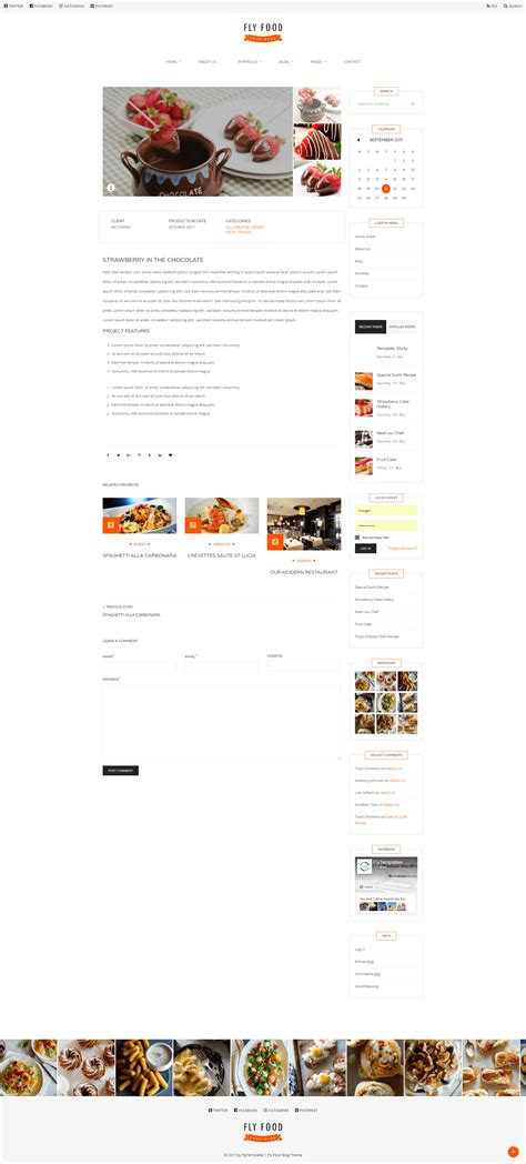 wordpress themes zip download download free flyfood food blog wordpress theme zip