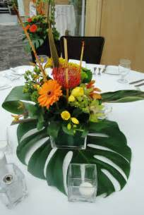 Table Flower Arrangements Tropical Floral Centerpieces Wedding Flowers