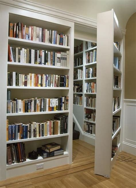 Bookcase With Sliding Ladder Secret Bookcase Doors Always Fun And Always Mysterious