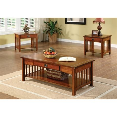 mission style accent table furniture of america nash mission style 3 piece antique