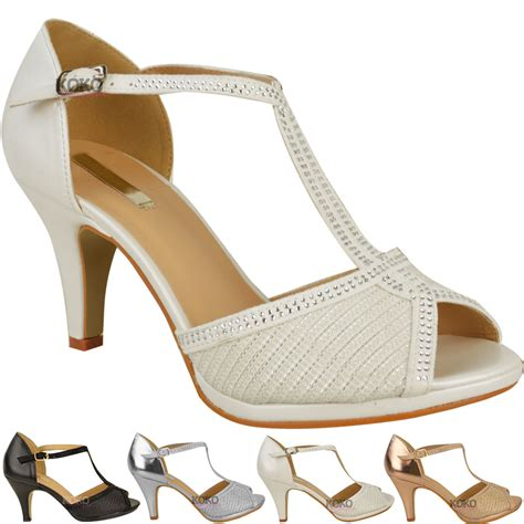 high heel formal shoes for womens wedding bridal shoes prom high heel diamante