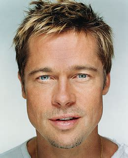 men small jaw hairstyle brad pitt the 2007 time 100 time