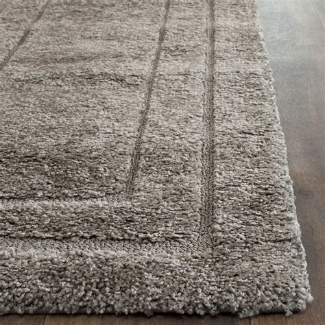 Area Rugs New Orleans Gray Shag Rug More Views Luxurious Handmade Area Rug For Indoor Living Room In Grey With Black