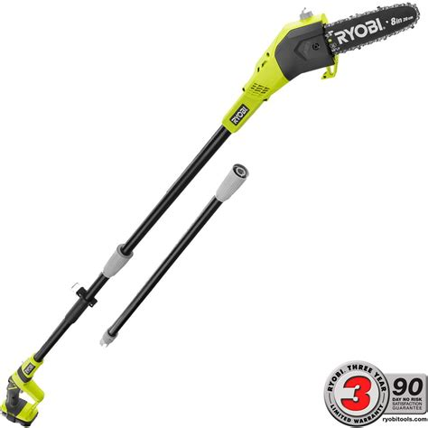 home depot pole ls ryobi one 8 in 18 volt lithium ion cordless pole saw 1