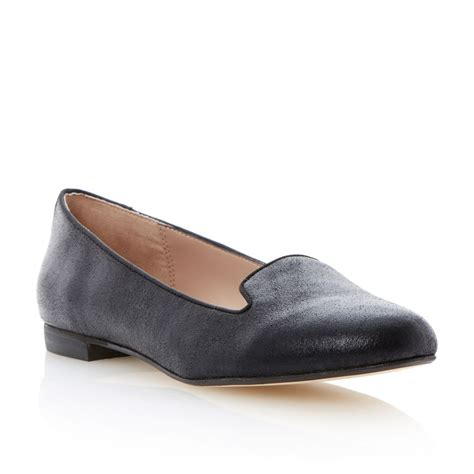 plain black flat shoes dune limbo womens black slippers flat plain piping