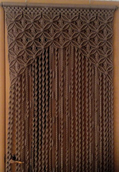 Hemp Curtain Panels From Doc by Items Similar To Curtains Bags In Macrame Technique On Etsy