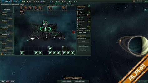 ship designer stellaris reveals extensive ship designer fleet combat is