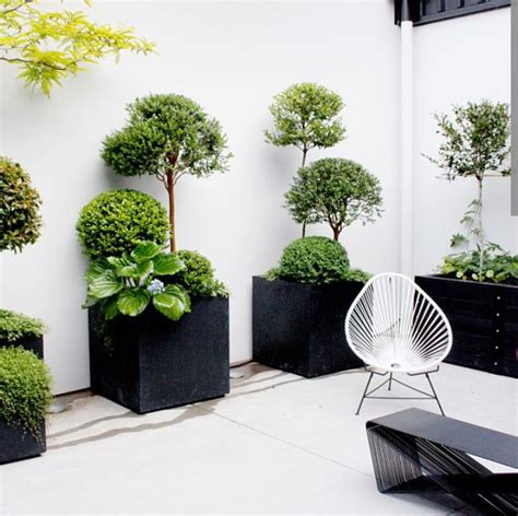 Black Square Outdoor Planters by Wood Fireplace Gardens Planters And Pots