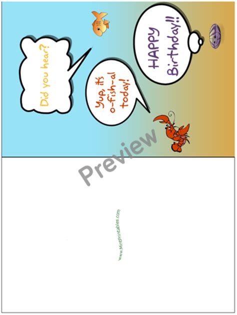 printable birthday cards fishing cute printable birthday greeting with cartoon fish