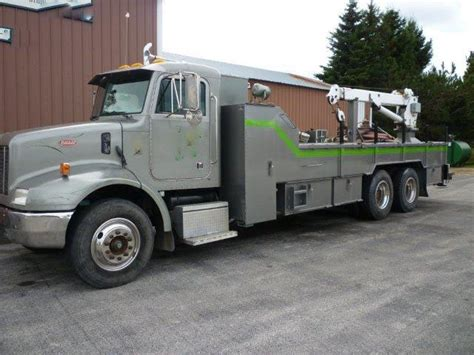 peterbilt flat bed water truck best used rebuilt machinery at east west drilling