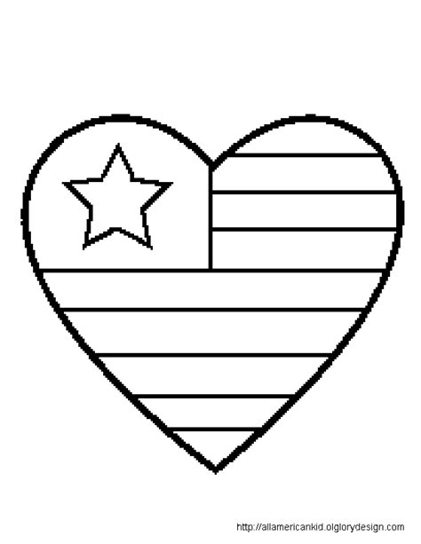 patriotic heart coloring page free coloring pages of american flag heart