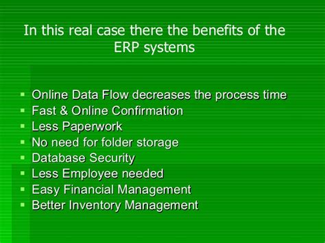 Benefits Of Mba After Mechanical Engineering by Presentation On Erp By Khurram Waseem Khan Mba 2nd Semester Hu