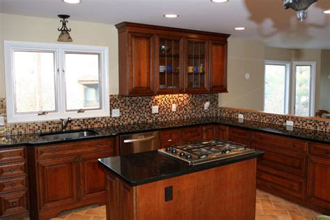 Built In Kitchen Islands by Transitional Townhouse Kitchen With Island And Stove