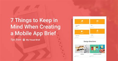 app design brief how to create a good design brief for a mobile app my