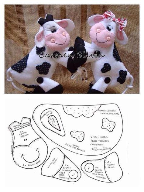 vacas en firltro blanco y negro fieltro and la cara on pinterest