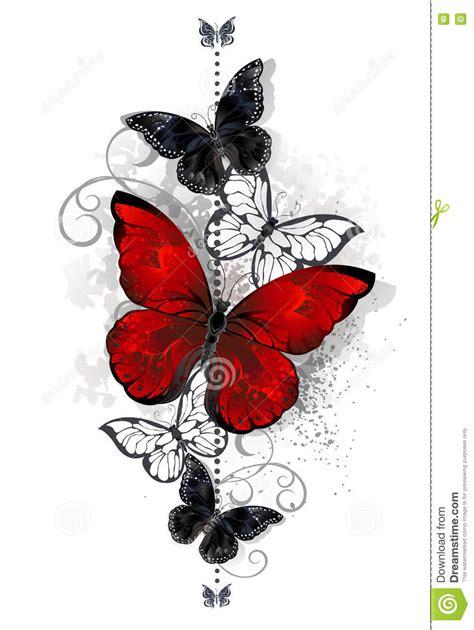 imagenes negras y rojas mariposas rojas y negras ilustraci 243 n del vector imagen de