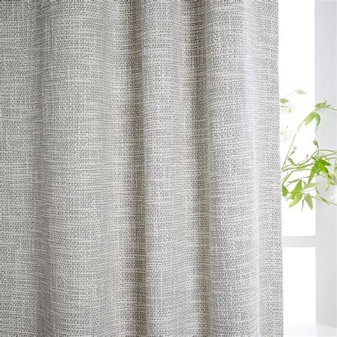 Textured Curtains Textured Weave Curtain Blackout Lining Ivory West Elm