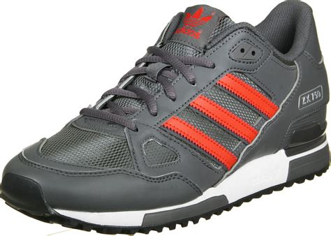 adidas zx 750 shoes grey orange