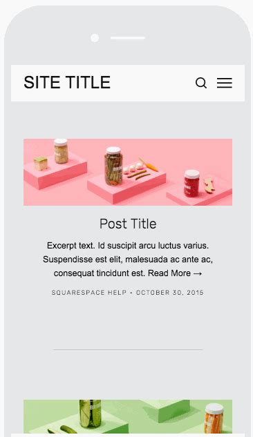 Grid Stacked Blog Pages Squarespace Help Brine Template Squarespace