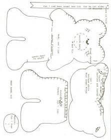 teddy sewing template teddy pattern free printables templates etc