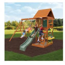 swing set slide outdoor yard playground swingset