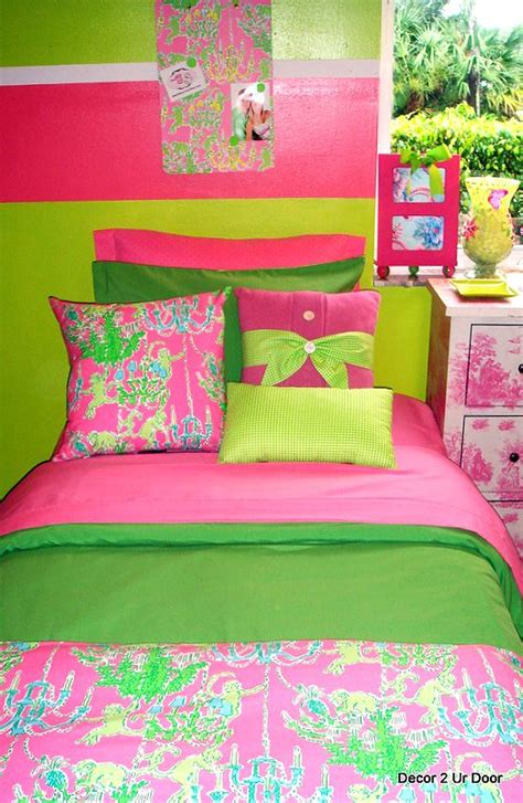 pink and green home decor lime green and hot pink bedding beautiful pink decoration