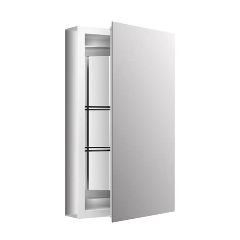kohler surface mount medicine cabinet kohler 15 in x 26 in recessed or surface mount medicine