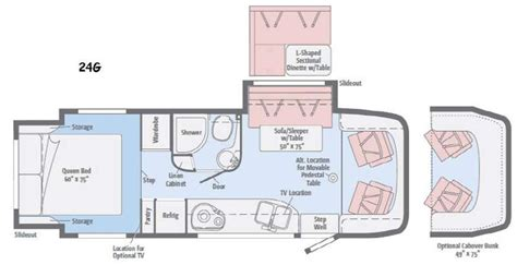 navion rv floor plans 2016 winnebago navion 24g cing world of san antonio
