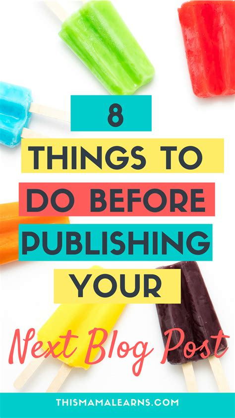 8 Things To Do When Youre In The Elevator by 8 Things To Do Before Publishing Your Next Post