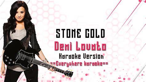stone cold by demi lovato karaoke demi lovato stone cold karaoke version youtube