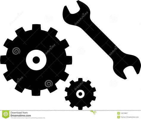 royalty free stock vector illustration models picture vector spanner and gears illustration stock vector image 14573867