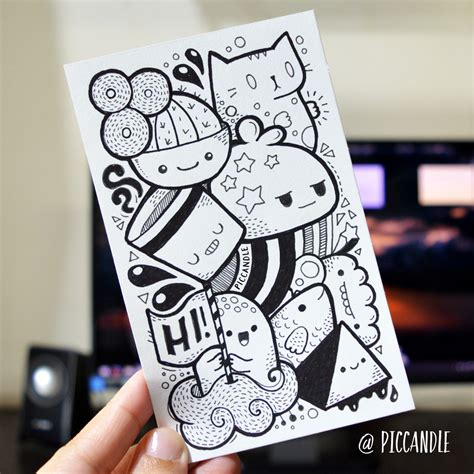 create a doodle drawing photos create awesome kawaii collage in 5 easy steps week 12