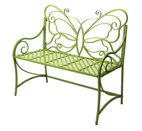 iron butterfly bench butterfly garden bench