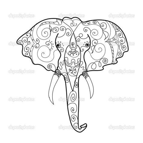 elefante mandala mandalas pinterest elephant head
