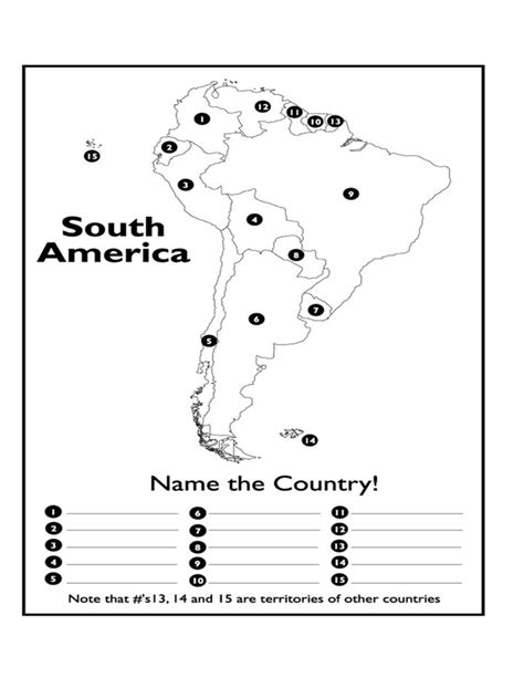 america map test page 1 south america map test docx for my classroom