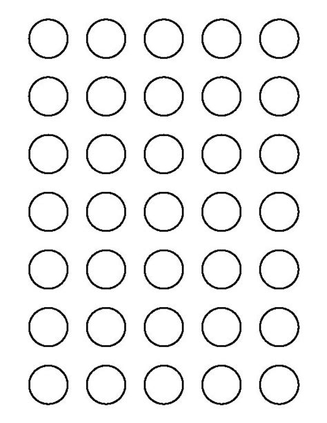 1 inch circle pattern use the printable outline for
