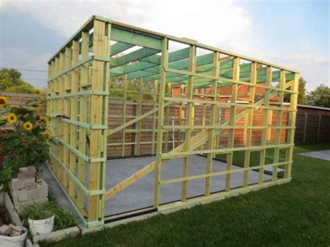 houtskelet tuinhuis bouwen opbouw houten tuinhuis bouwinfo