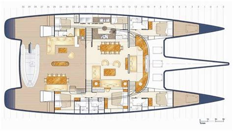 sailing yacht layout plans s y rafoly the catamaran