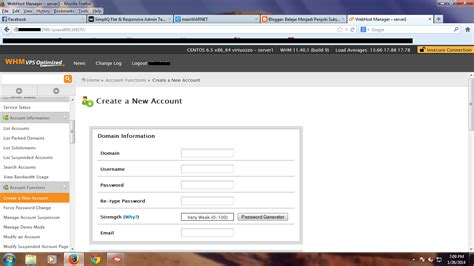 tutorial web host manager cara membuat cpanel di web host manager whm