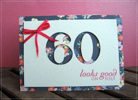 Handmade 60th Birthday Card Ideas - 60th birthday card my handmade cards