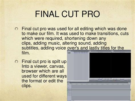 final cut pro add subtitles media technology evaluation