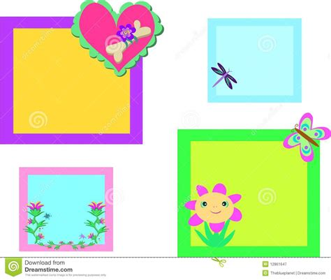 design photo mix mix of colorful nature frames royalty free stock