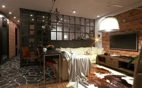 separate living room and kitchen separate open kitchen from the living room partition walls in industrial look home decor trends