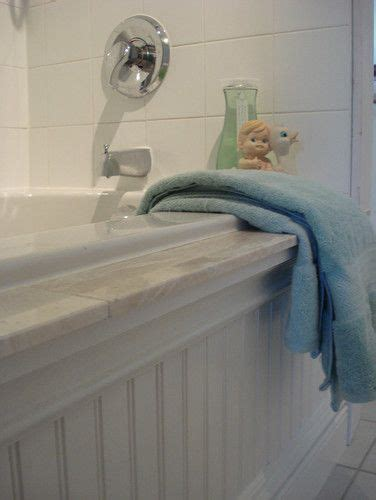 ugly bathtub brilliant cottage style bathroom added beadboard and