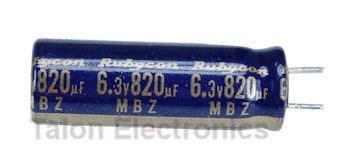 capacitor kzg 6 3v 820uf 820uf 6 3v radial electrolytic motherboard capacitor pc leads