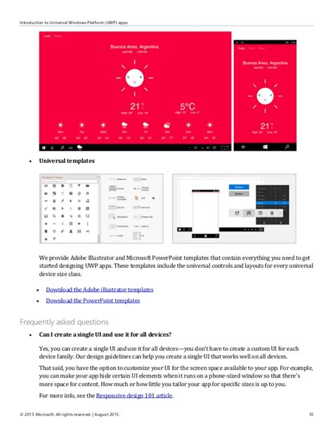microsoft powerpoint templates for uwp user experience guidelines for universal windows platform
