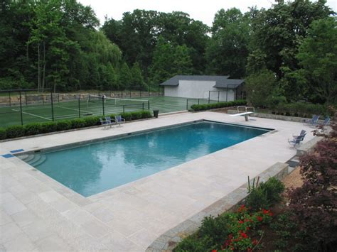 Pool Patio And Hearth New Limestone Swimming Pool Patio Nj Traditional Patio