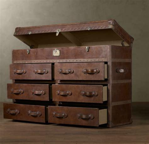 steamer trunk dresser restoration hardware desired mayfair steamer secretary trunk and dresser by