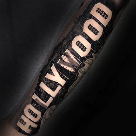 hollywood sign tattoo best tattoo design ideas